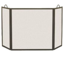 3 Panel Rectangular Fireplace Screen