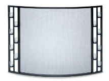 Bowed Tea Light Fireplace Screen