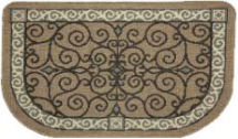 Textured Weave Eastly Scroll Rug