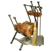Front Loading Log Rack with Tools