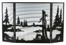 Quiet Pond Folding Fireplace Screen