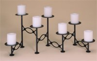 Seven Candle Oval Looped Fireplace Candelabra