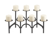 Seven Candle Curved Fireplace Candelabra