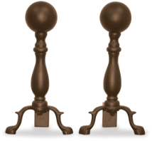 Bronze Ball Andirons  DISCONTINUED