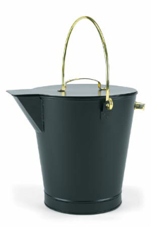 Black Ash Bucket with Brass Handles