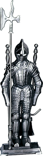 4 Piece Mini Triple Plated Pewter Soldier Fireset