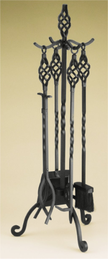 "5 Piece 33"" High Candlelight Fireplace Tools"