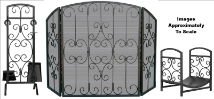 Graphite with Scrollwork Fireplace Package Set