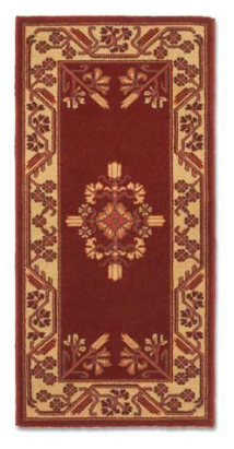 "44"" X 22"" Jardin Wool Hearth Rug"