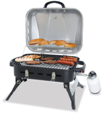 STAINLESS STEEL OUTDOOR LP GAS BARBECUE GRILL