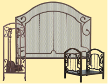 Bronze Arched Top Fireplace Package Set