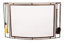 Town & Country Curved Fireplace Screen