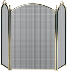 3 Fold Premium Brass Fireplace Screen