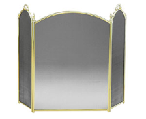 Solid Brass Three-Fold Fireplace Screen