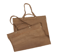 Brown Suede Leather Firewood Carrier