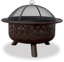 Uniflame Oil Rubbed Bronze Outdoor Patio Fire Pit