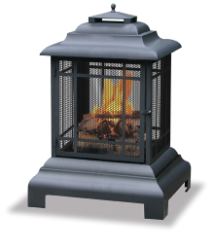 Uniflame Black Outdoor Fireplace