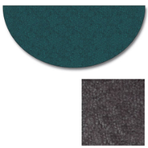 Flame Polyester Half Round Rug