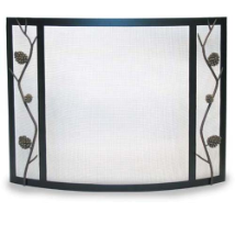 Pilgrim Artisan Pine Cone Bowed Fireplace Screen