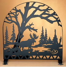 "Moose Creek Arched Fireplace Screen 30""W X 30""H DISCONTINUED"