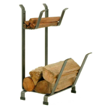 Country Home Log Rack with Kindling Holder