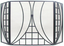 Black Art Deco Fireplace Screen