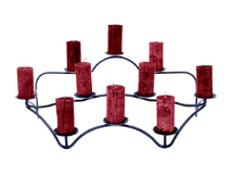 Ten Candle Contours Hearth Candelabra