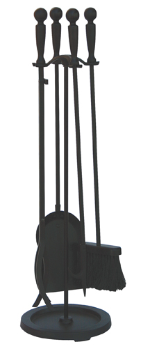 5 Piece Pre-Assembled Fireplace Tool Set