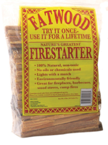 Fatwood in Poly Bag