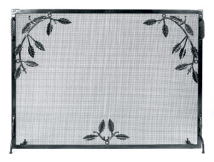 Weston Flat Panel Fireplace Screen with Leaves and Berries