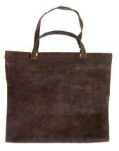 Suede Leather Firewood Carrier