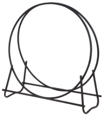"Black 40"" Diameter Tubular Log Hoop"