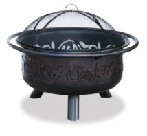 Uniflame Oil Rubbed Bronze Outdoor Fireplace