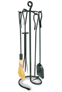 Shepherd's Hook Fireplace Tool Set