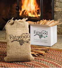 Fatwood 15 Pounds in White Carton