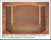 3 Panel Folding Fireplace Screen - Available in Standard And Custom Sizes - Choice of 28 Finishes (SKU: PW 1051)