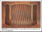 3 Panel Folding Fireplace Screen - Available in Standard And Custom Sizes - Choice of 28 Finishes (SKU: PW 1052)