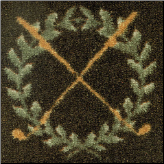 Crossed Clubs on Half Round Rug (SKU: 10682)