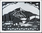 Bear Creek Flat Fireplace Screen (SKU: MT 107426)