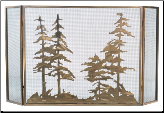 Tall Pines 3 Piece Folding Fireplace Screen (SKU: MT TP)