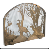 Deer On The Loose Arched Fireplace Screen (SKU: MT 107759)