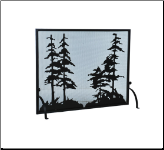 Tall Pines Flat Fireplace Screens (SKU: MT TPF)