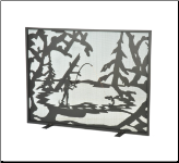 Fly Fishing Flat Fireplace Screen (SKU: MT 111046)