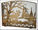 Moose Creek Arched Flat fireplace Screen (SKU: MT --)