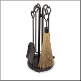 5 Piece Raised Hearth Small Fireplace Tools  (SKU: 18000)
