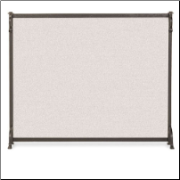 Single Panel Craftsman Fireplace Screen