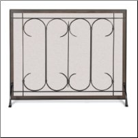 Iron Gate Fireplace Screen