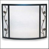 Pilgrim Artisan Pine Cone Bowed Fireplace Screen (SKU: 18330)