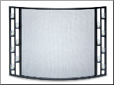 Bowed Tea Light Fireplace Screen (SKU: 18340)