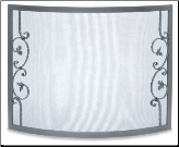 Pilgrim Bowed Portfolio Fireplace Screen (SKU: 1844)